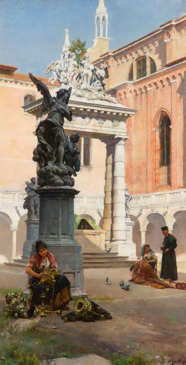 Cloisters, the Church of the Frari, Venice
