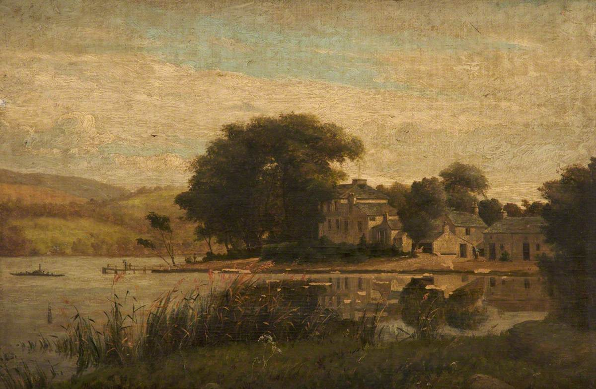 Landscape with a Lake and Houses