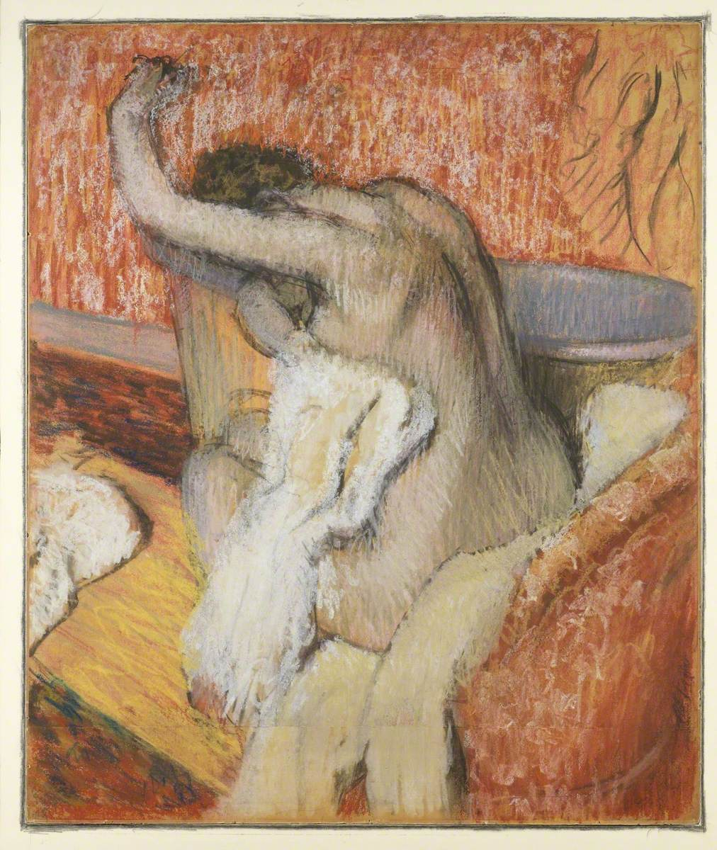 After the Bath – Woman Drying Herself
