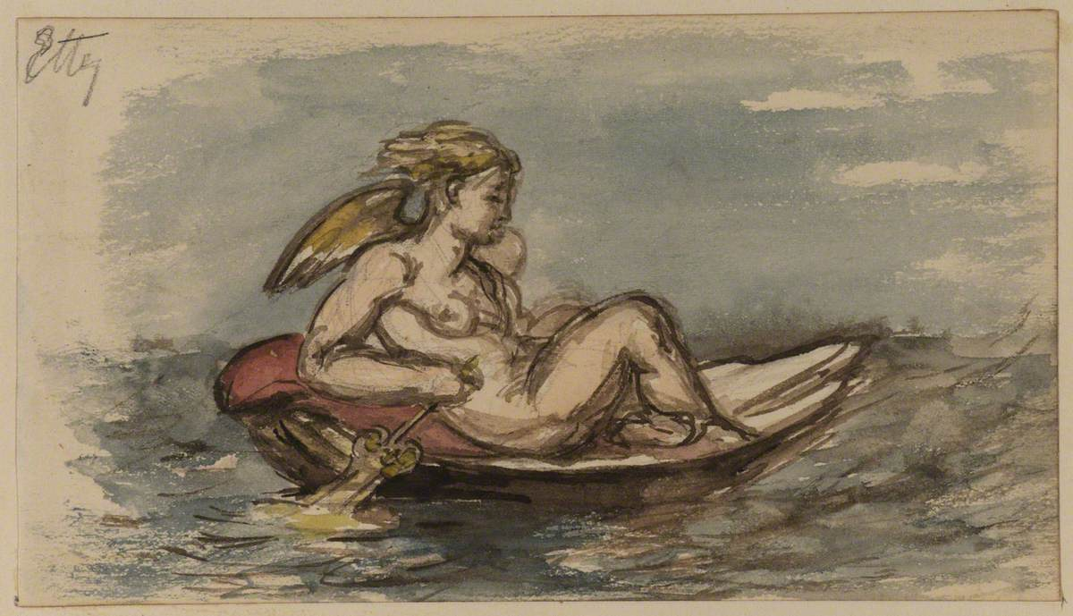 Study for 'Cupid in a Shell'