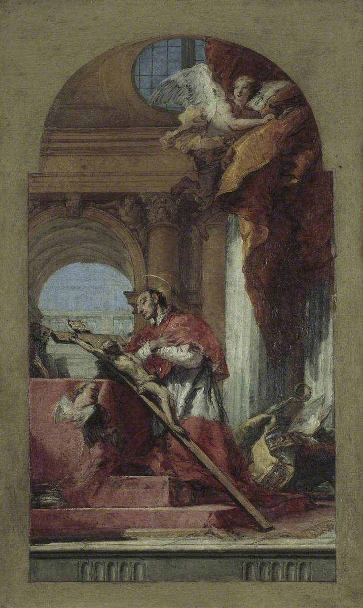 Saint Charles Borromeo Meditating on the Crucifix