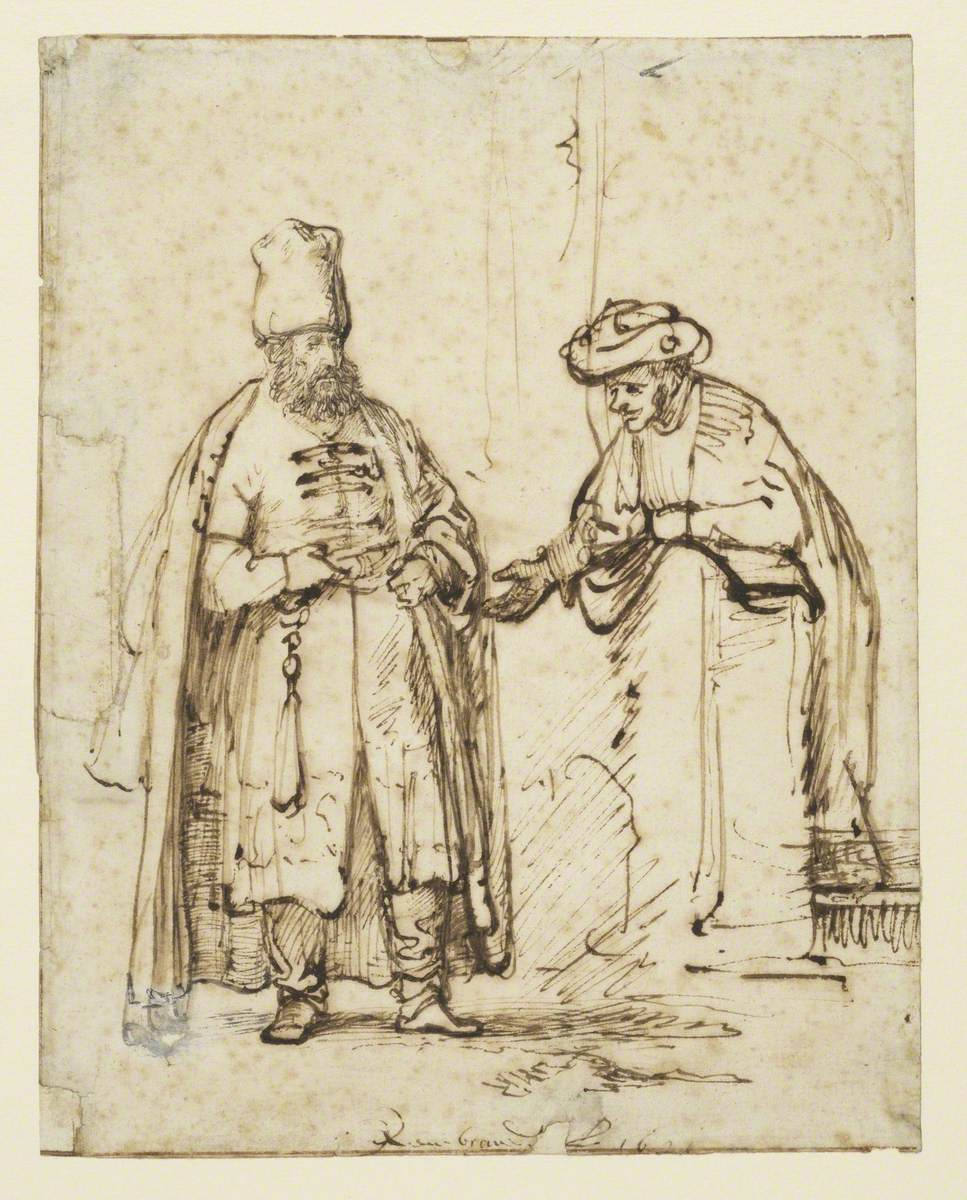 Two Men in Discussion