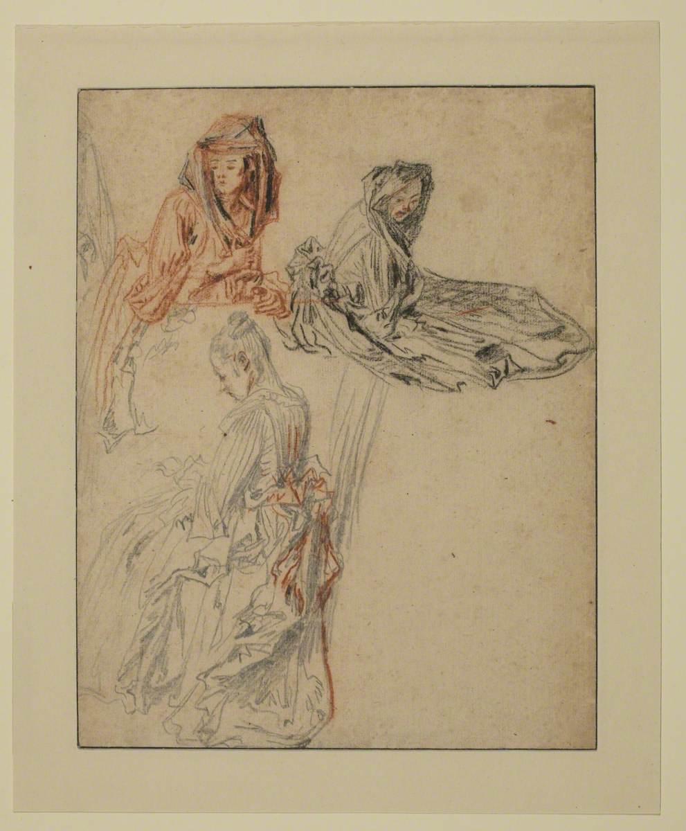 Three Studies of Female Figures