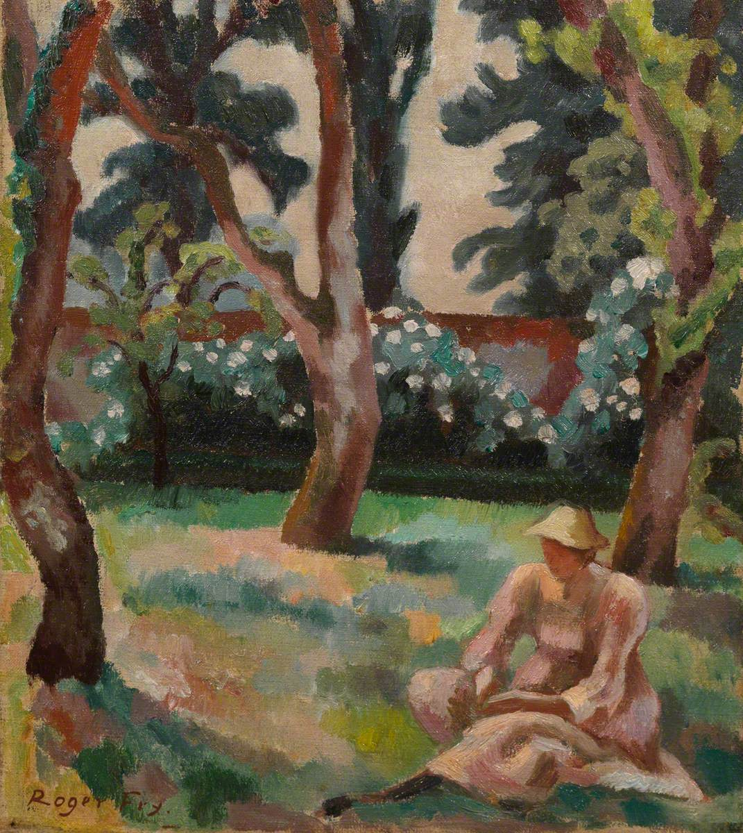 Orchard, Woman Seated in a Garden