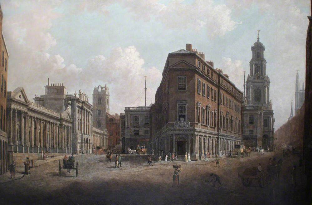 The Bank of England and the Royal Exchange, London, c.1790