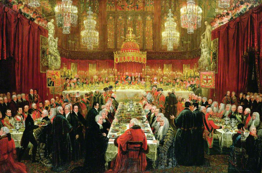 The Banquet Given by the Corporation to the Prince Regent, the Emperor of Russia and the King of Prussia, 18 June 1814 (The Allied Sovereigns' Banquet)