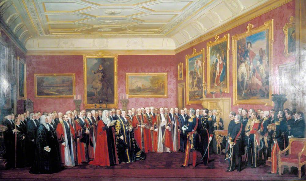 The Lord Mayor of London Presenting an Address of Congratulation to His Majesty Louis-Philippe at Windsor Castle, October 1844