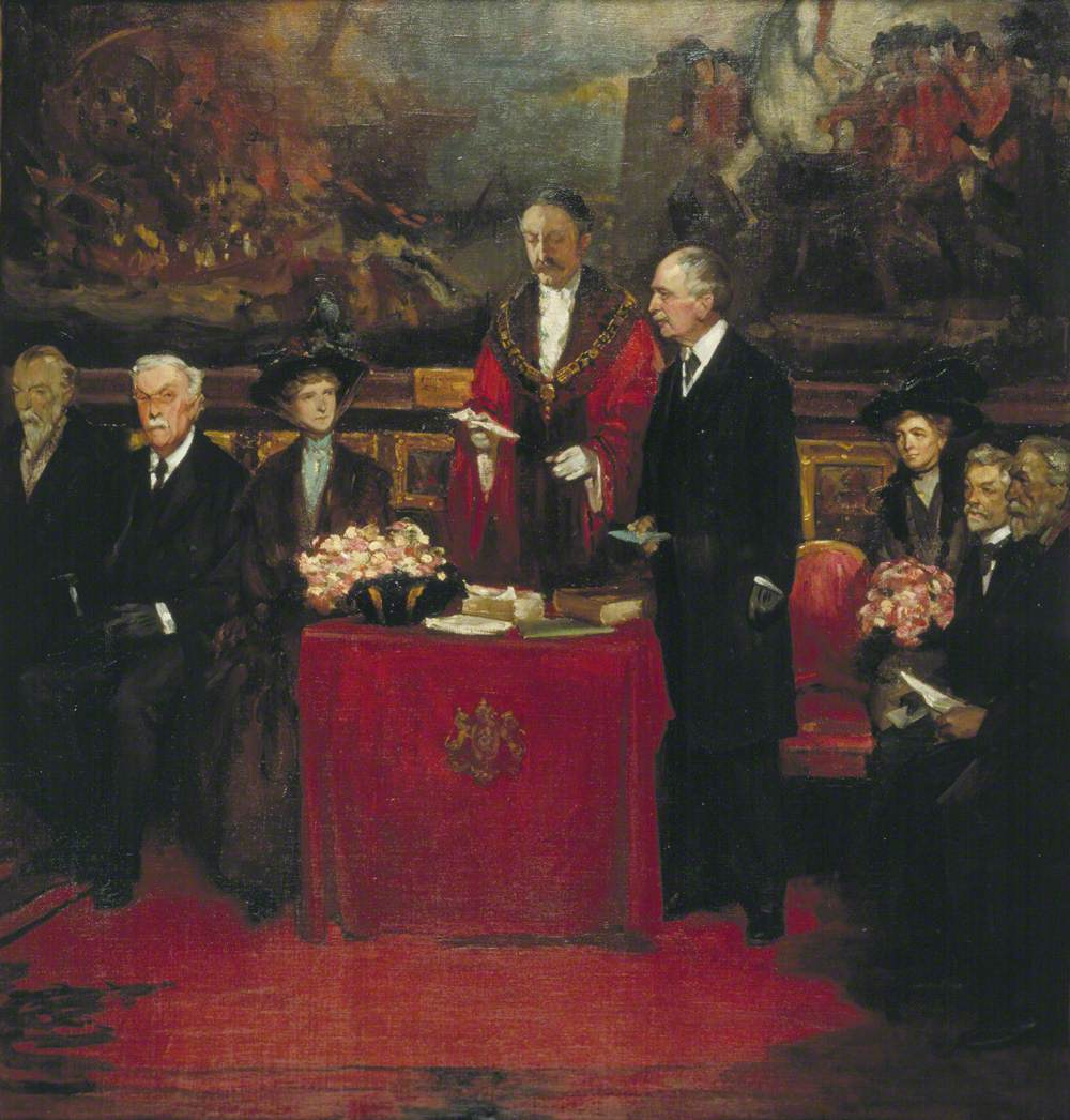 Sir Thomas V. Bowater, Lord Mayor of London, Speaking at the Royal Drawing Society's Annual General Meeting at the Guildhall Art Gallery, 16 January 1914