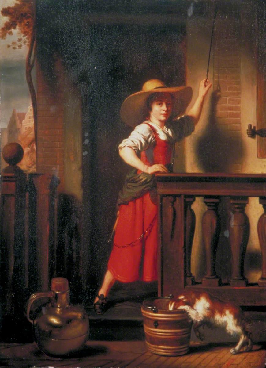 A Woman Selling Milk