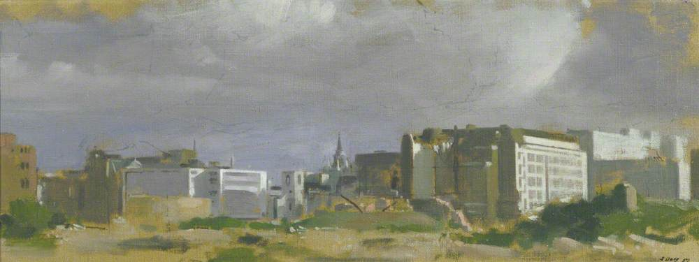 View of St Mary Aldermanbury from Cripplegate, London