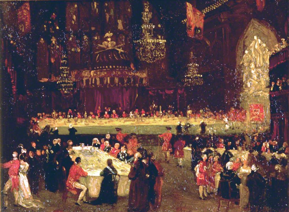 Study for 'The Allied Sovereigns' Banquet'