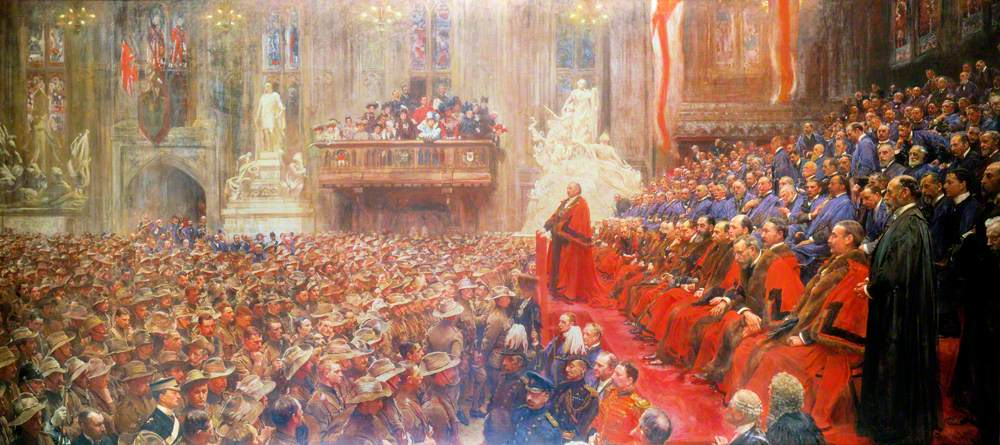 The City Imperial Volunteers in the Guildhall, London, 1900