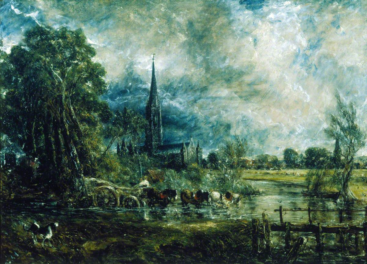 Salisbury Cathedral, Wiltshire, from the Meadows