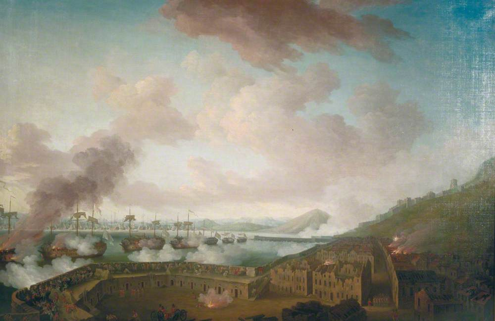 The Defence of Gibraltar against the French and Spanish on the Afternoon of 13 September 1782