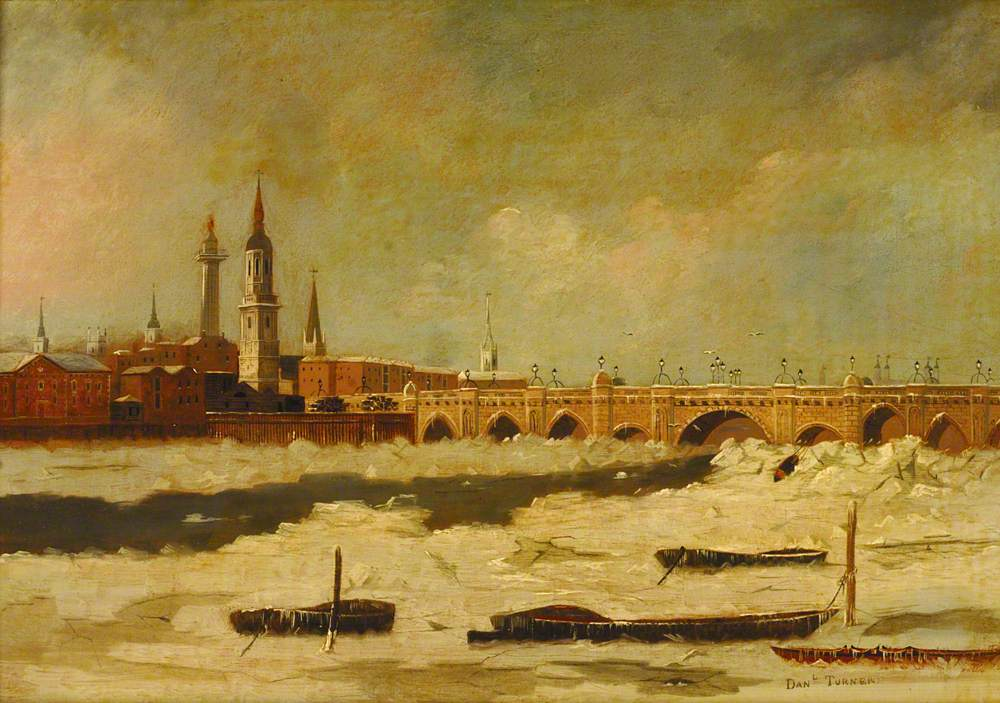 London Bridge during the Frost of 1795–1796