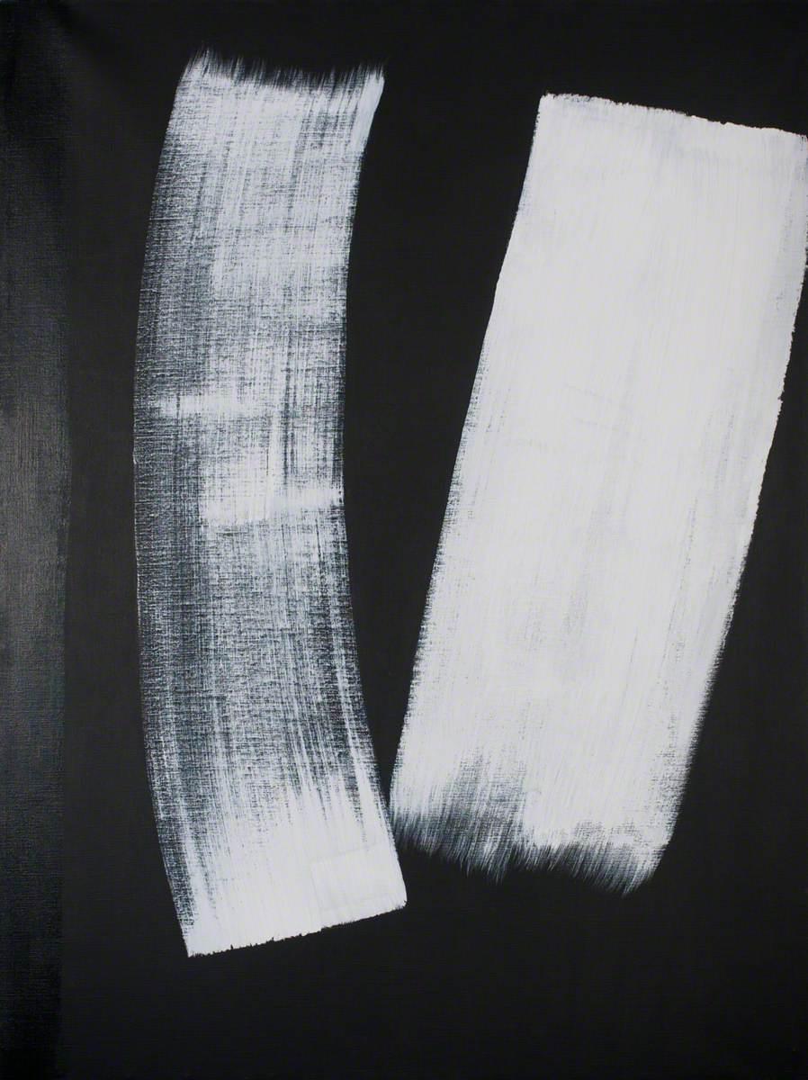 Vertical Movement (Easter Series) White on Black