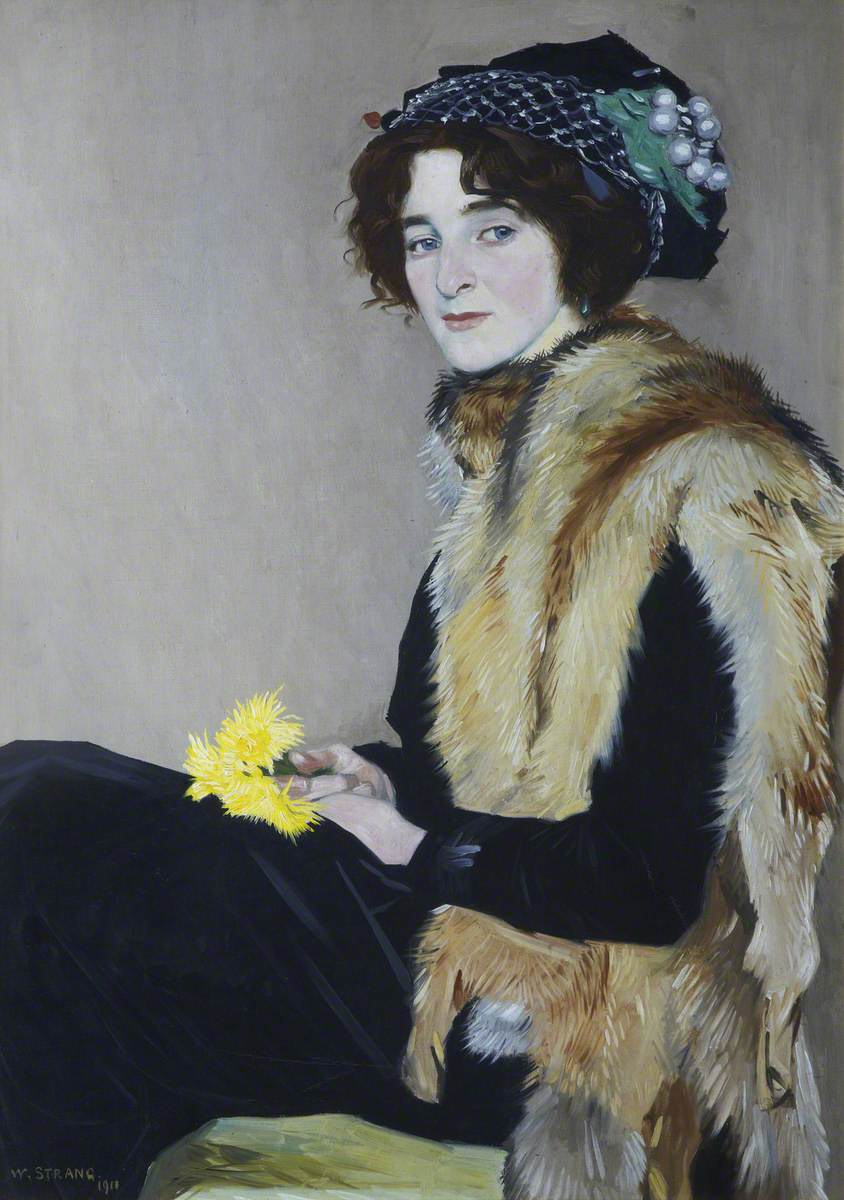 Girl with a Fur Cape