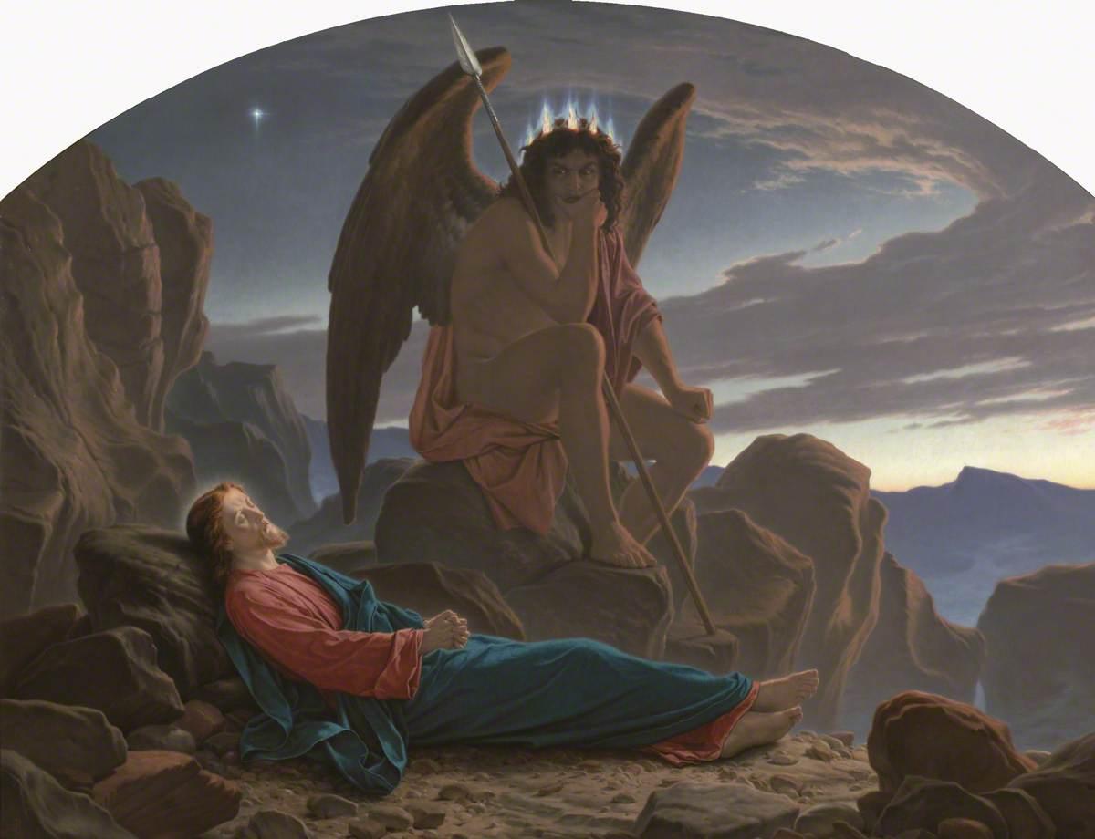 Satan Watching the Sleep of Christ