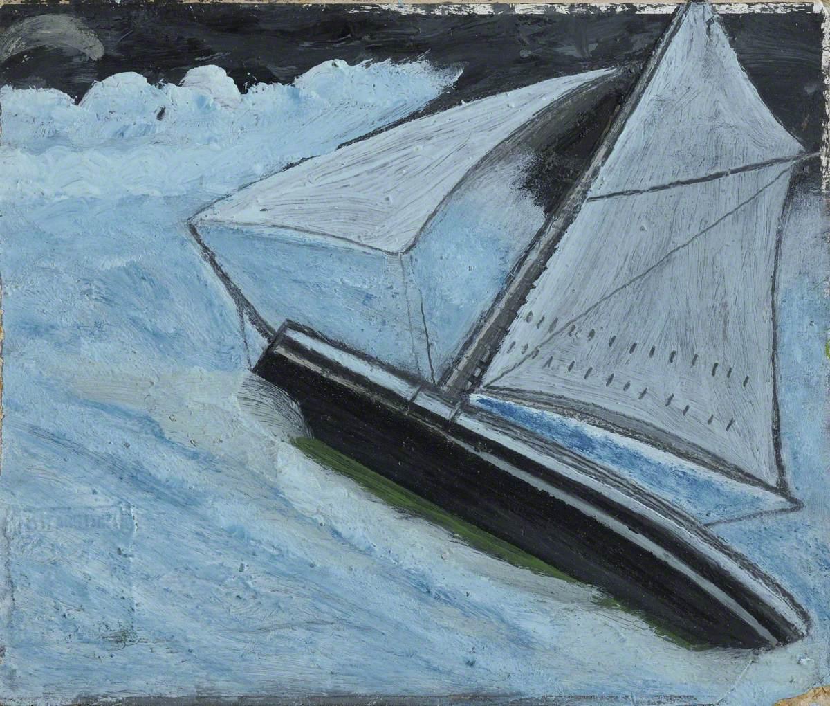 Small Boat in a Rough Sea
