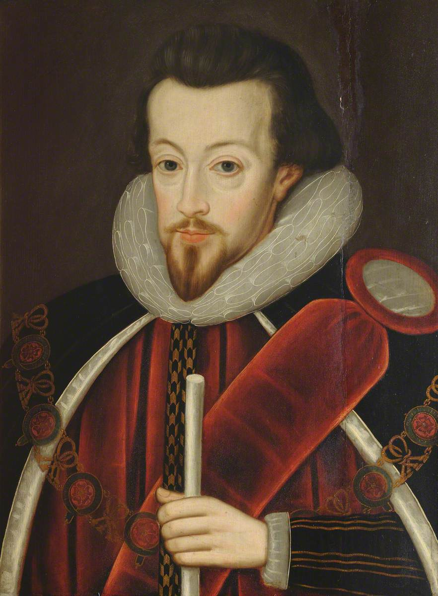 Robert Cecil (1563–1612), Earl of Salisbury, Alumnus of St John's College, Principal Secretary to Elizabeth I and James I, Knight of the Garter