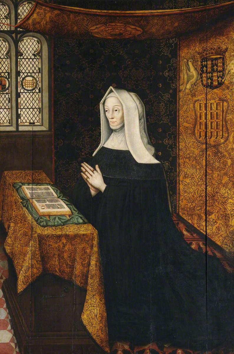 Lady Margaret Beaufort (1443–1509) at Prayer, Countess of Richmond and Derby, Mother of King Henry VII and Foundress of the College