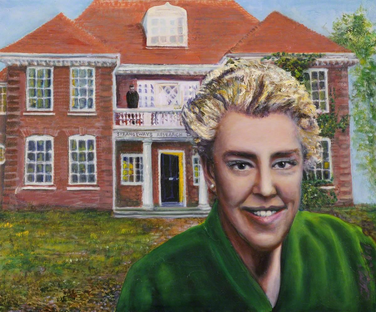 Dame Honor Bridget Fell (1900–1986), outside Strangeways Research Laboratory