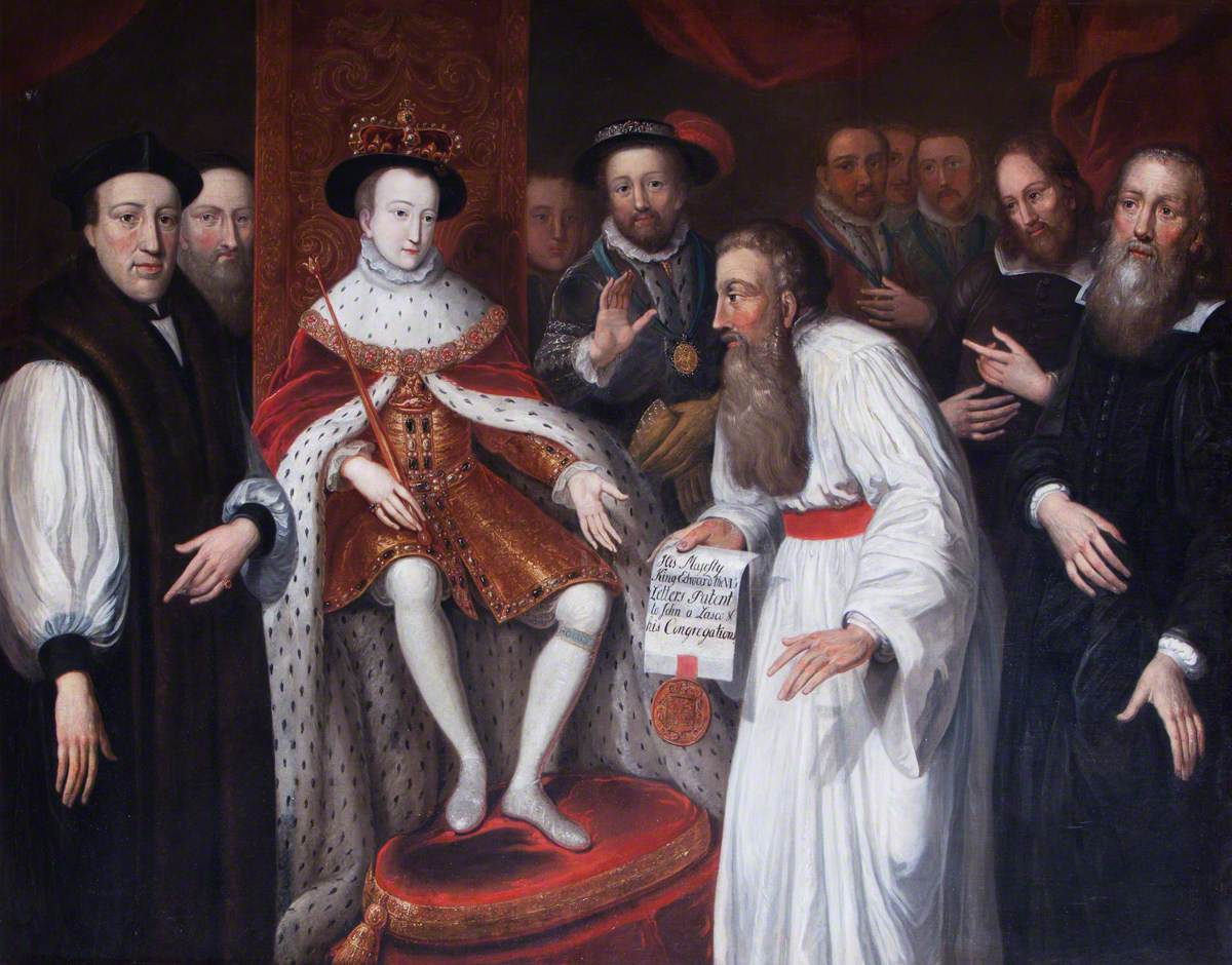 Edward VI Granting Permission to John a Lasco to Set Up a Congregation for European Protestants in London in 1550