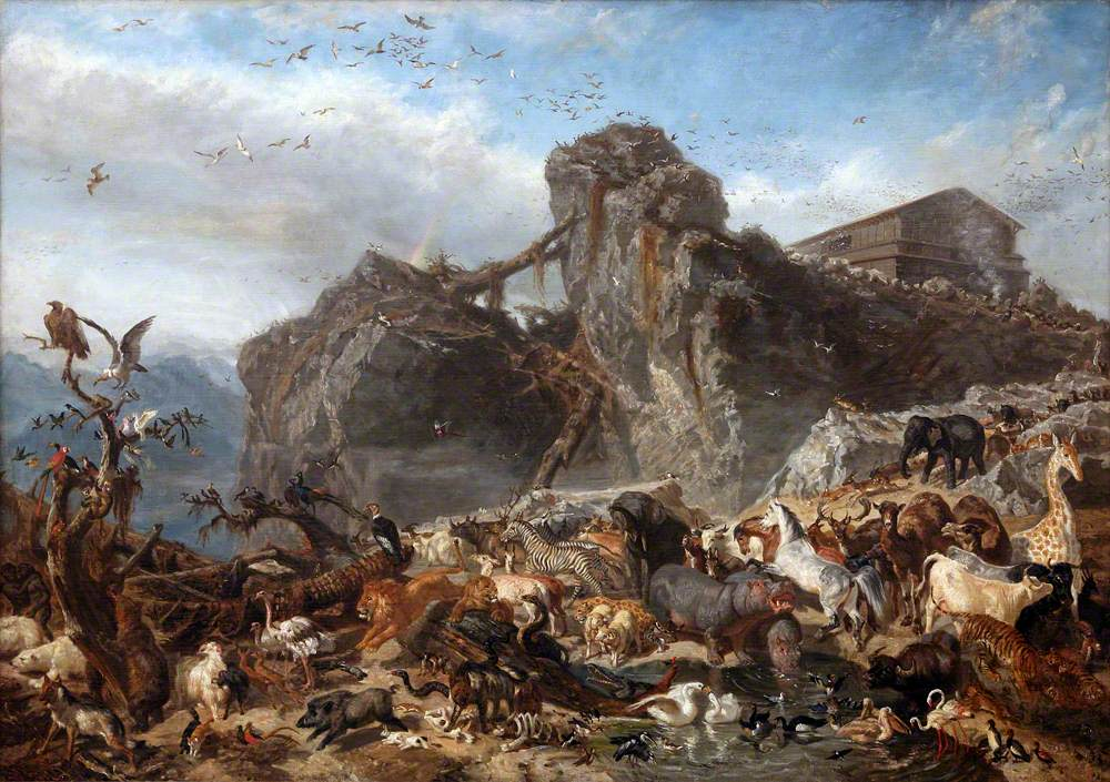 The Animals Leaving the Ark, Mount Ararat
