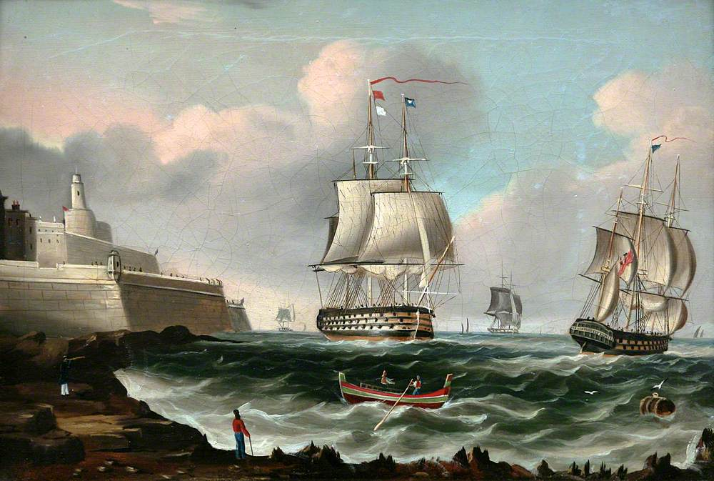 A Ship of the Line Entering Malta