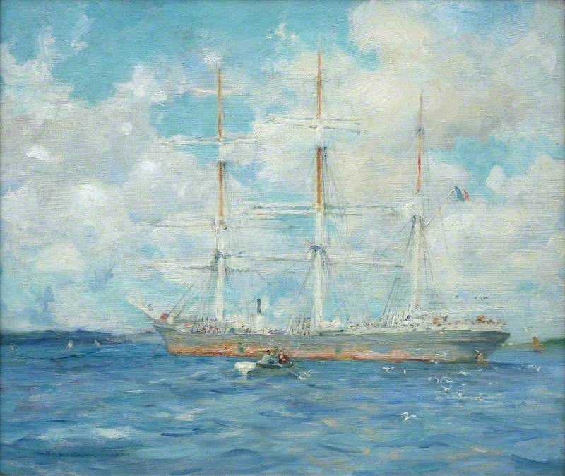 French Barque in Falmouth Bay