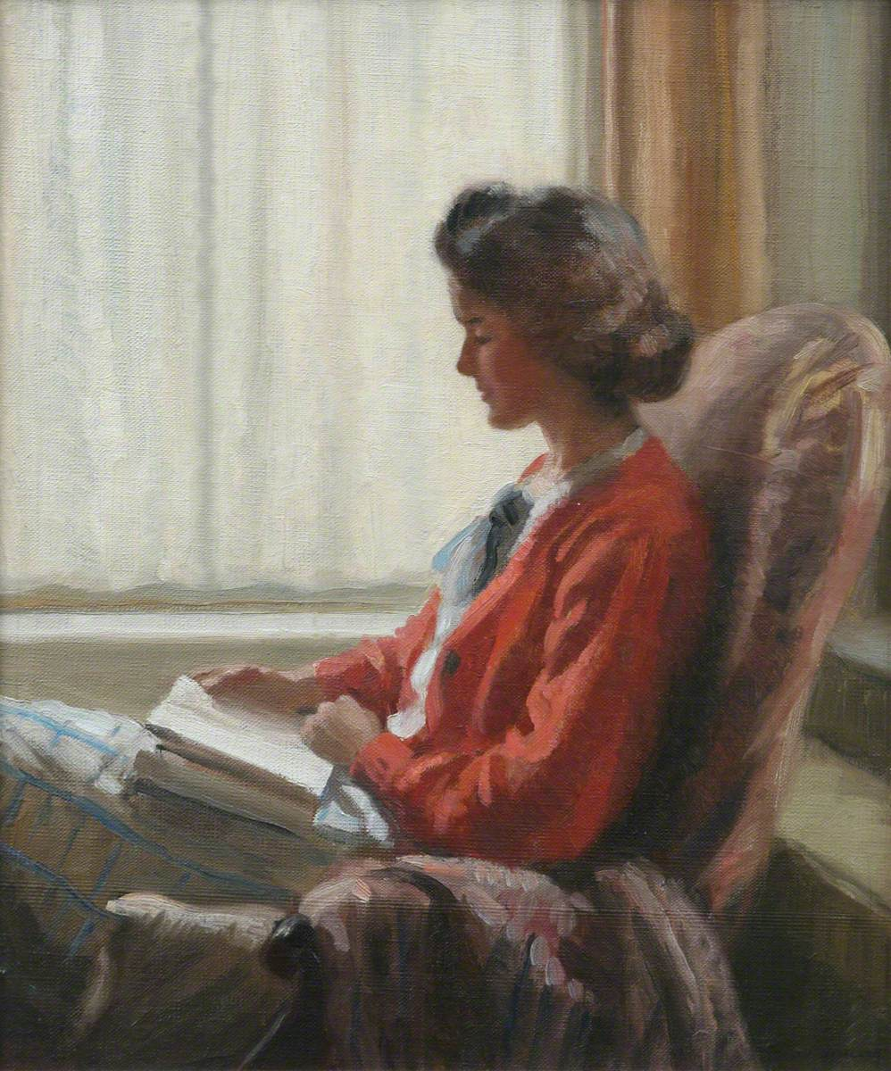 A Quiet Read (Portrait of the Artist's Mother)