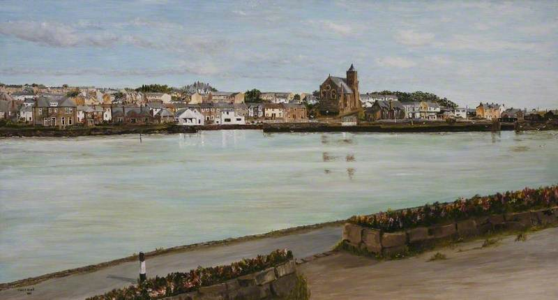 View of Hayle (Copperhouse Pool and St Elwyn's Church)
