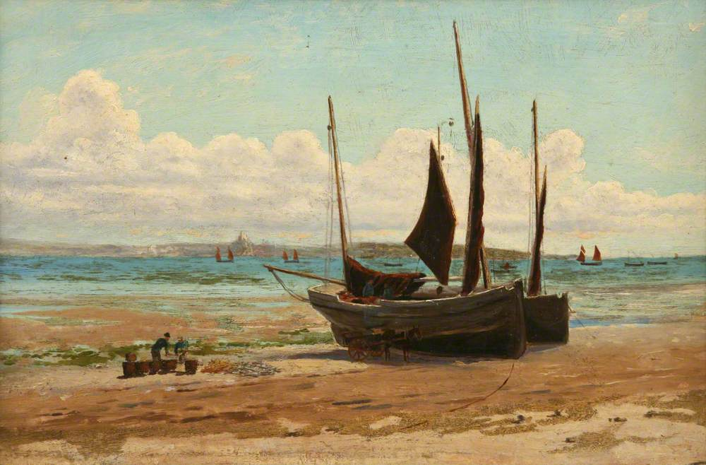 Fishing Boats, Mount's Bay (Newlyn Beach)