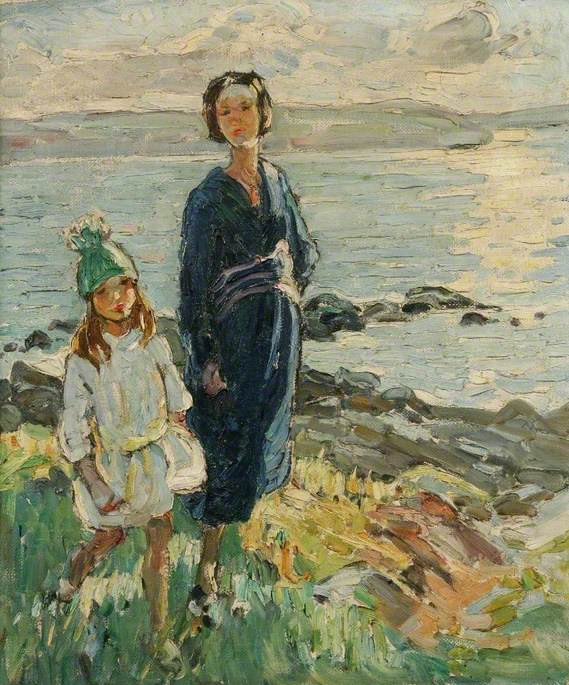 Woman and Child on the Foreshore