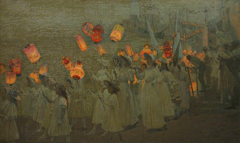 Jubilee Procession in a Cornish Village, June 1897