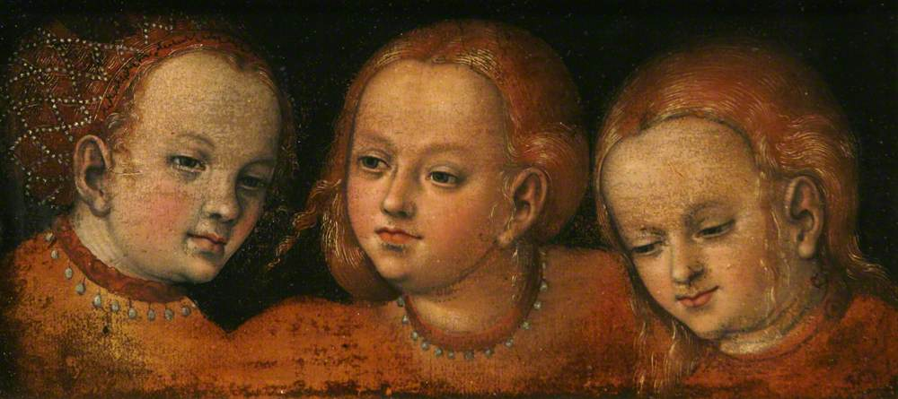 Study of Three Girls' Heads