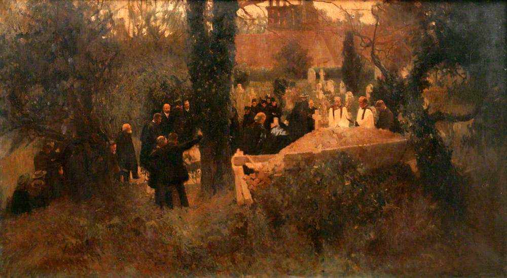 Burial of Lady Jane Swinburne (d.1896)