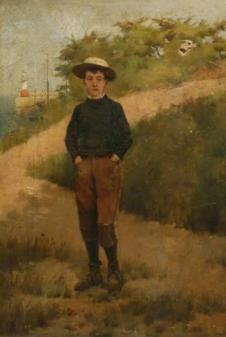 Boy at Newlyn Harbour