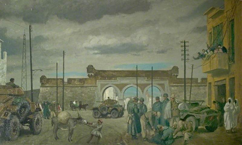 Entry into Tunis of the 1st Derbyshire Yeomanry, 2 May 1943