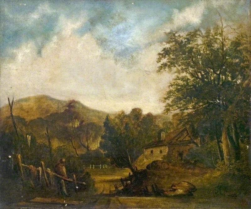 Rural Scene with a Cottage