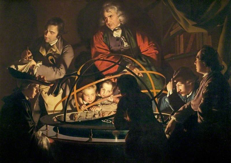 A Philosopher Giving That Lecture on the Orrery in Which a Lamp Is Put in Place of the Sun