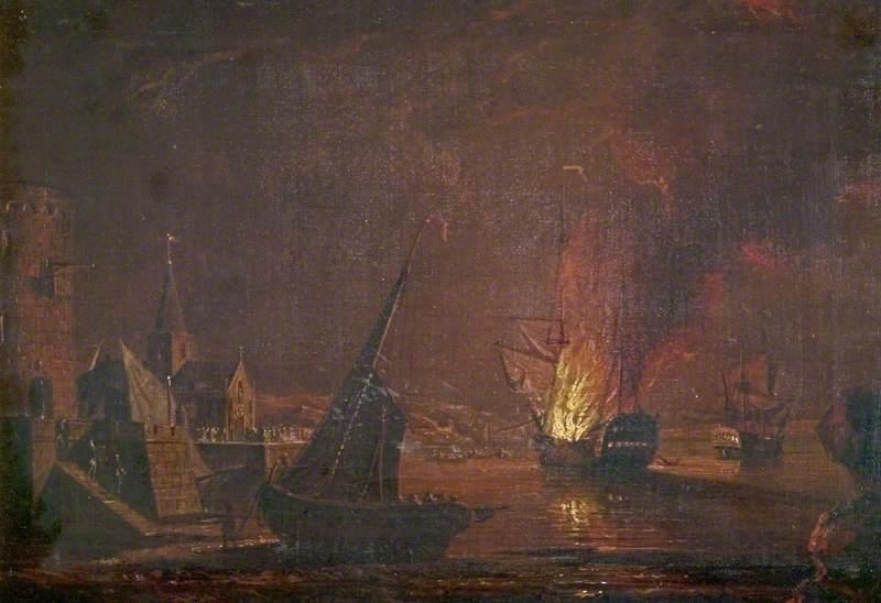 A Ship on Fire