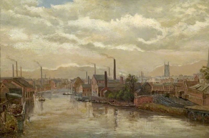 The River Derwent from the Great Northern Railway Bridge, Derby