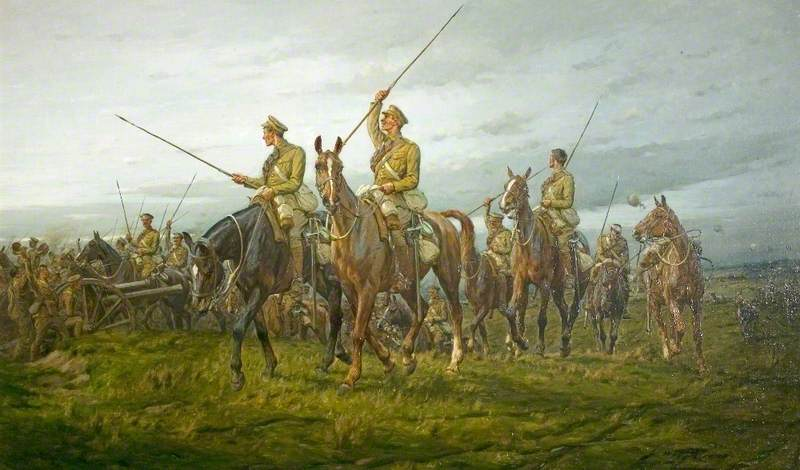 The 12th Lancers at Moy, France, on 28 August 1914