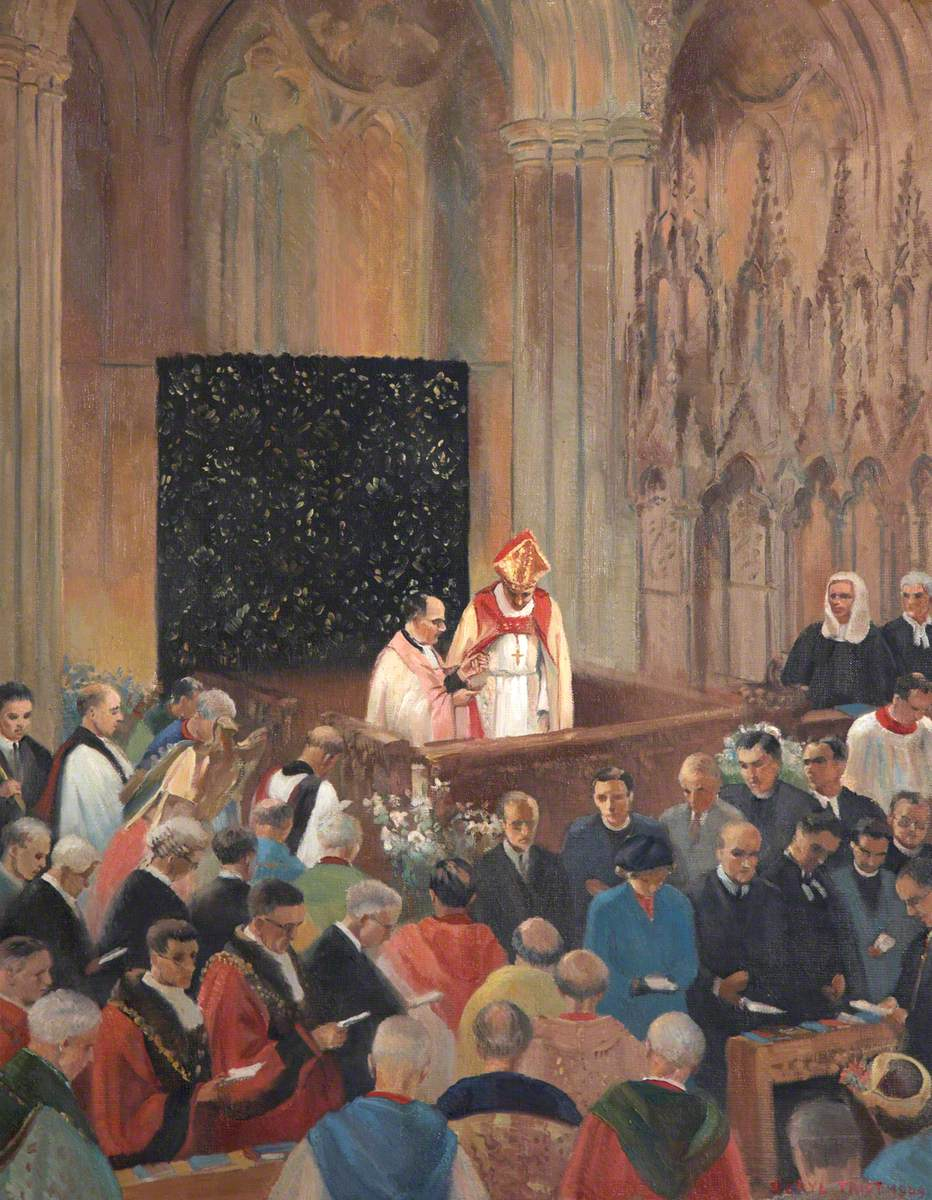 The Enthronement of Bishop Robert Mortimer, Bishop of Exeter (1948–1973)
