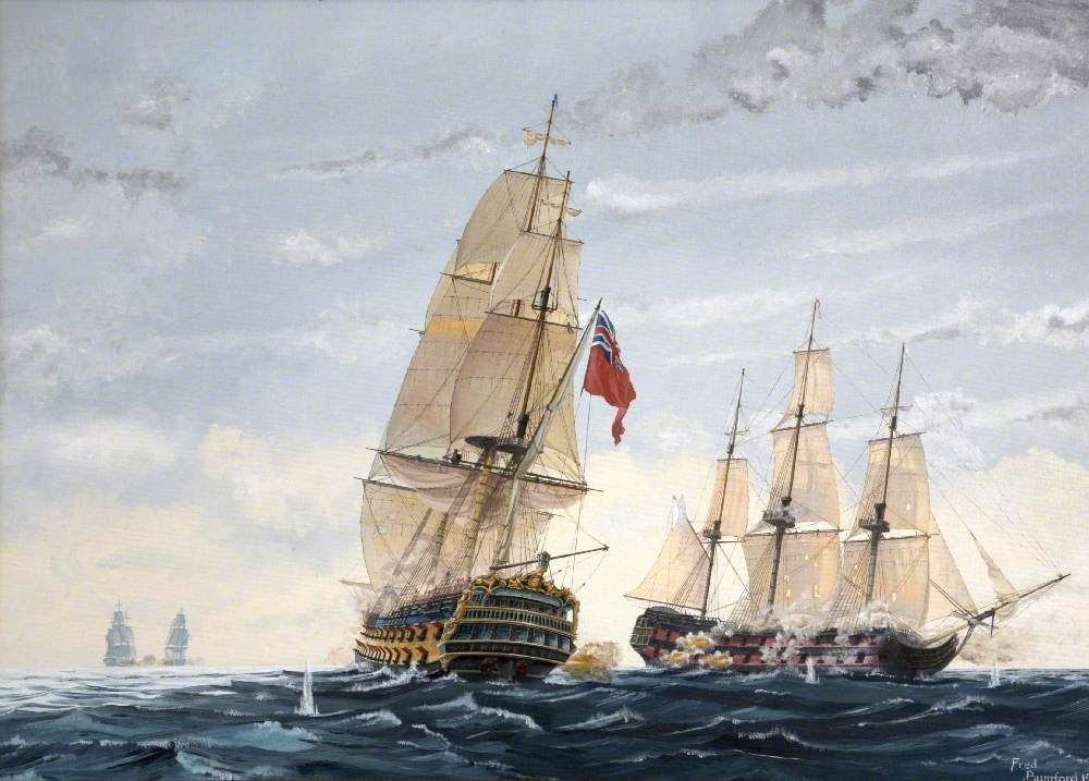 HMS 'Thunderer' Culloden Class, 1781