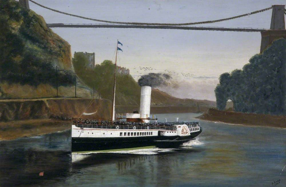The 'Waverley' Coming under the Clifton Suspension Bridge