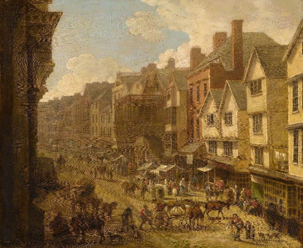 The High Street, Exeter, Devon, in 1797