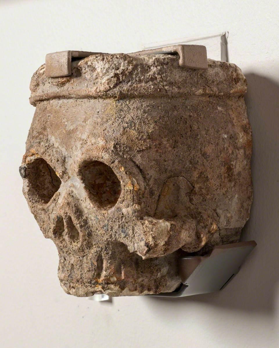 Memento Mori Tomb Carving of a Skull