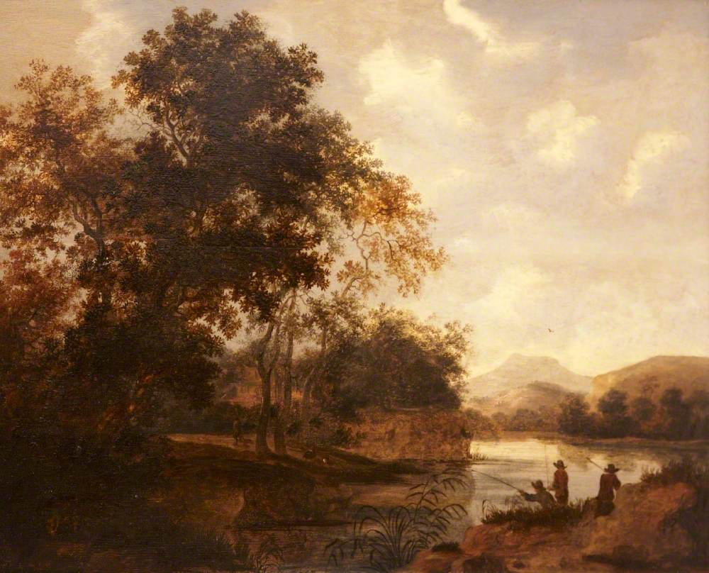 River Landscape with Travellers near a Wood